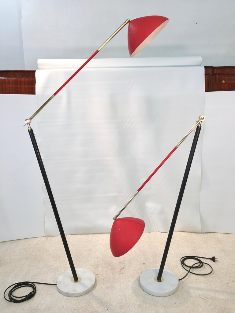 Pair of Stilux Articulating Floor Lamps For Sale 11