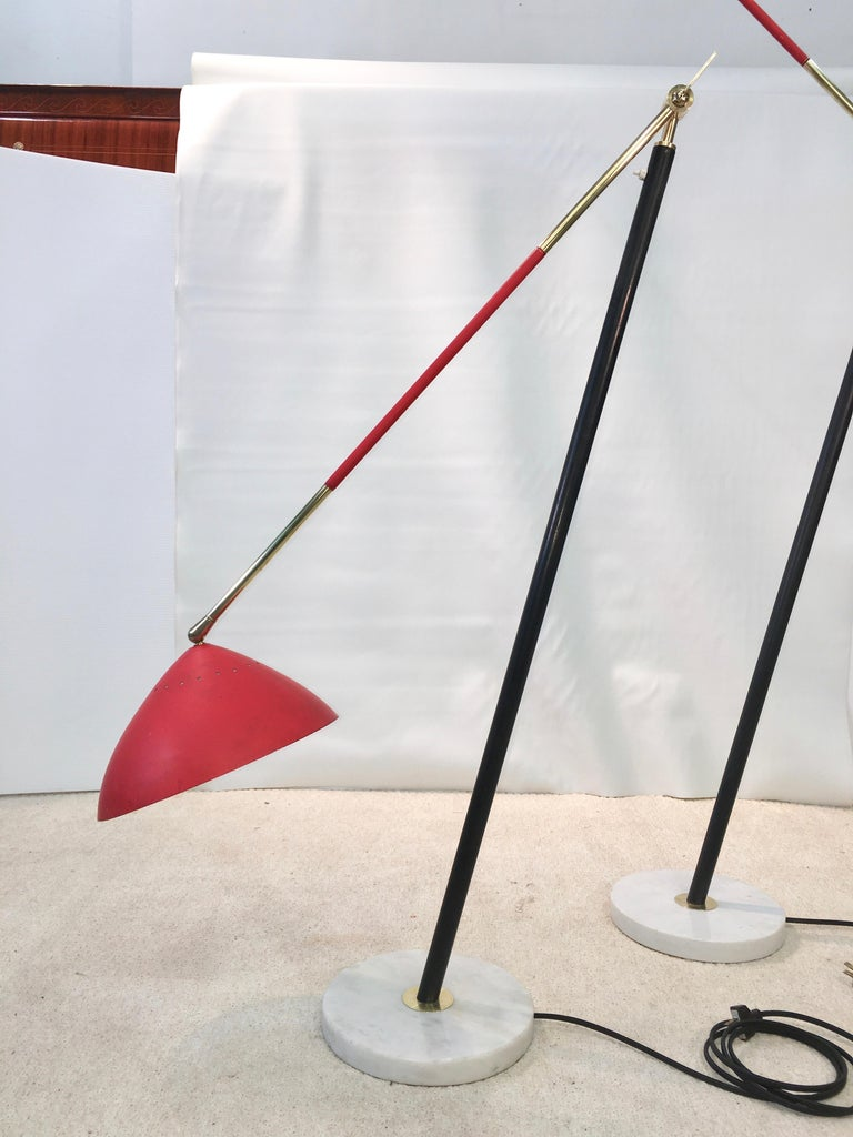 Pair of Stilux Articulating Floor Lamps For Sale 1