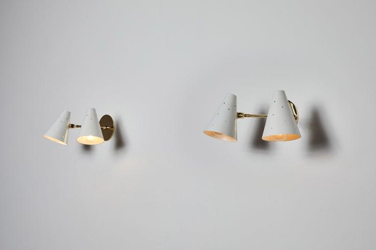Painted Pair of Stilux Sconces For Sale