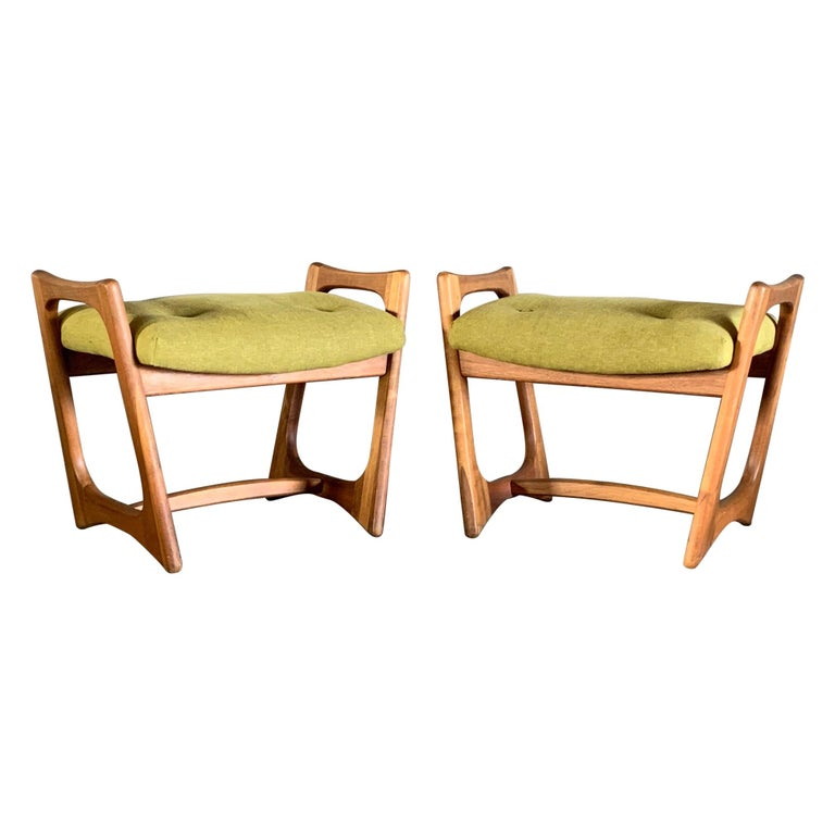 Pair of Stingray Ottomans by Adrian Persall For Sale