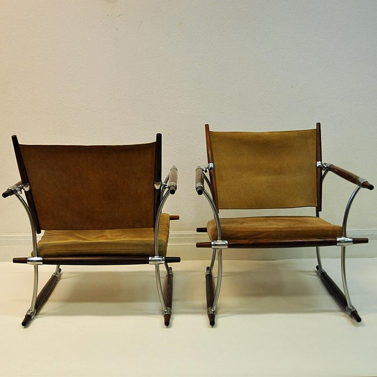 Pair of  'Stokke' Chairs by Jens H. Quistgaard, Nissen, Denmark, 1966 For Sale 3