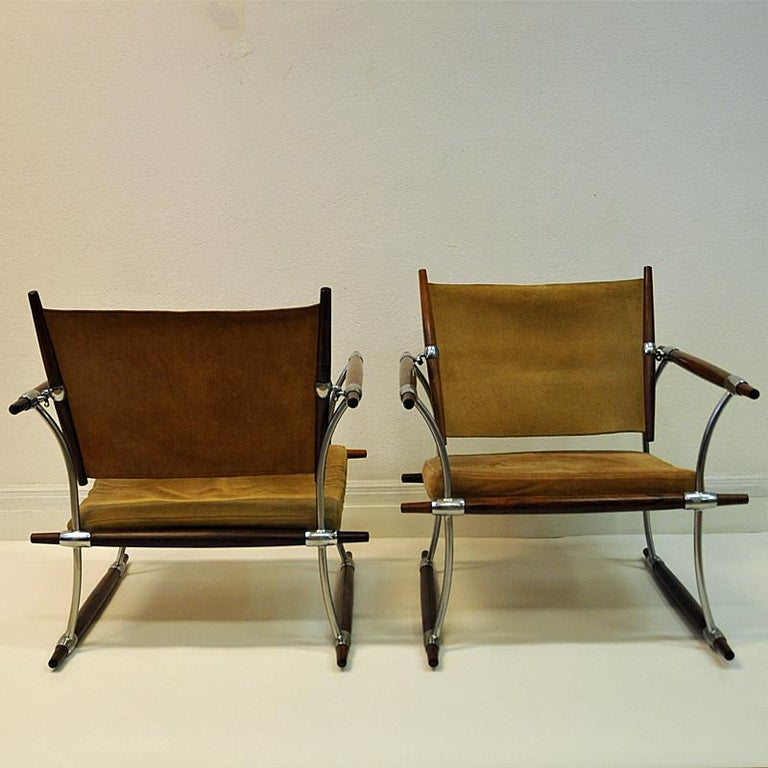 Pair of  'Stokke' Chairs by Jens H. Quistgaard, Nissen, Denmark, 1966 For Sale 5