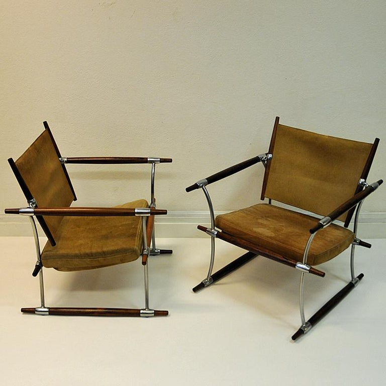 Pair of  'Stokke' Chairs by Jens H. Quistgaard, Nissen, Denmark, 1966 For Sale 6