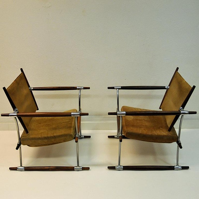Pair of  'Stokke' Chairs by Jens H. Quistgaard, Nissen, Denmark, 1966 For Sale 7