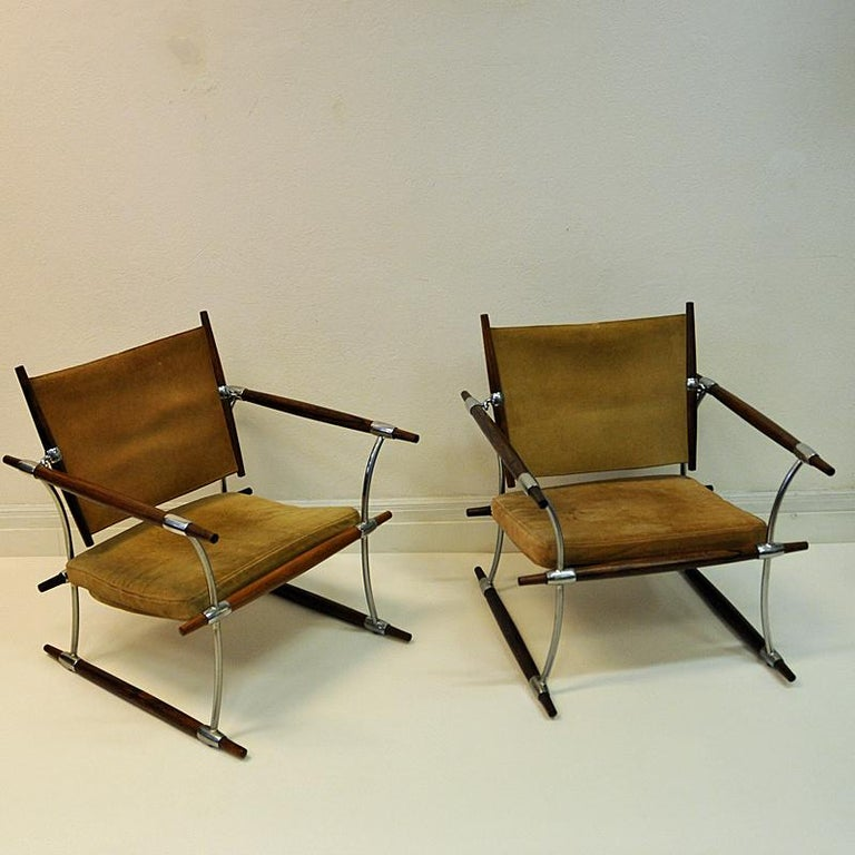 Pair of  'Stokke' Chairs by Jens H. Quistgaard, Nissen, Denmark, 1966 For Sale 8