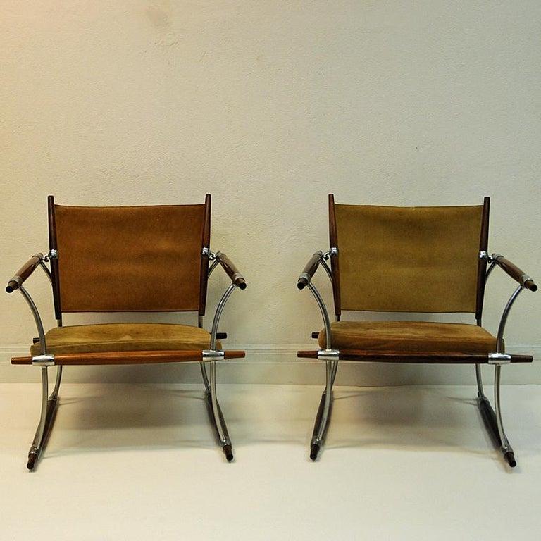 Scandinavian Modern Pair of  'Stokke' Chairs by Jens H. Quistgaard, Nissen, Denmark, 1966 For Sale