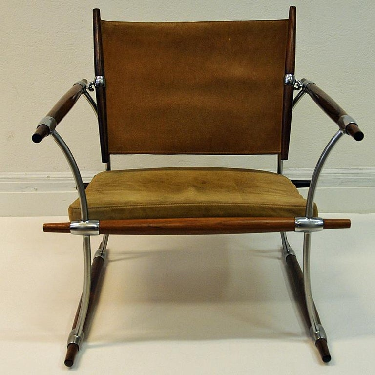 Polished Pair of  'Stokke' Chairs by Jens H. Quistgaard, Nissen, Denmark, 1966 For Sale