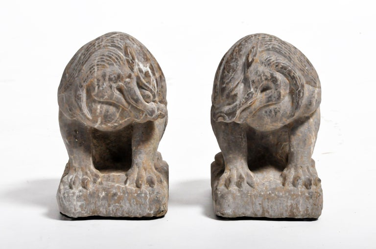These handsome stone sentinels are iconic gatekeepers seen throughout Asia. Traditional symbols of protection, they are made from durable materials like bronze or stone and are presented in pairs to flank either side of a threshold. While their