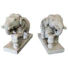 Pair of Stone Elephants