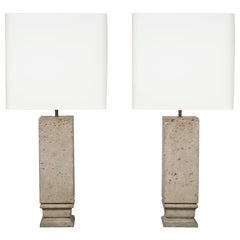 Pair of Stone Lamps by Jean-Charles Moreux, circa 1935
