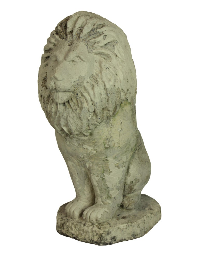 Stoneware Pair of Stone Lion Lamps