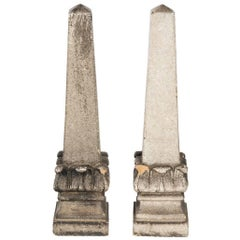 Pair of Stone Obelisks