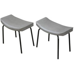 Pair of Stool French Design of the 1950s by Pierre Guariche for Meurop
