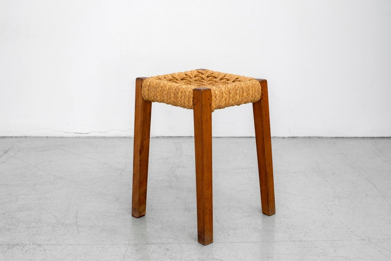 French Pair of Stools by Audoux Minet For Sale