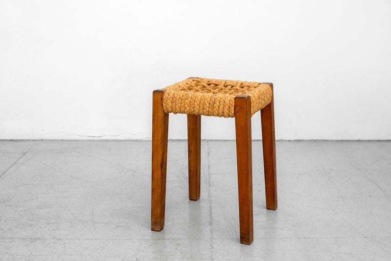 Mid-20th Century Pair of Stools by Audoux Minet For Sale