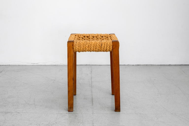 Rope Pair of Stools by Audoux Minet For Sale