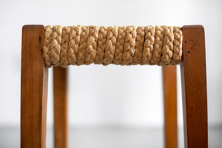 Pair of Stools by Audoux Minet For Sale 2