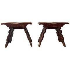 Pair of Stools by Don Shoemaker