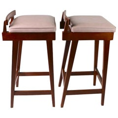 Pair of Stools by Erik Buch for Dyrlund