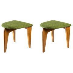 Pair of Stools by Guillerme and Chambon