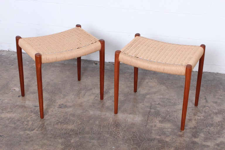 Pair of Stools by Niels O. Møller In Good Condition For Sale In Dallas, TX