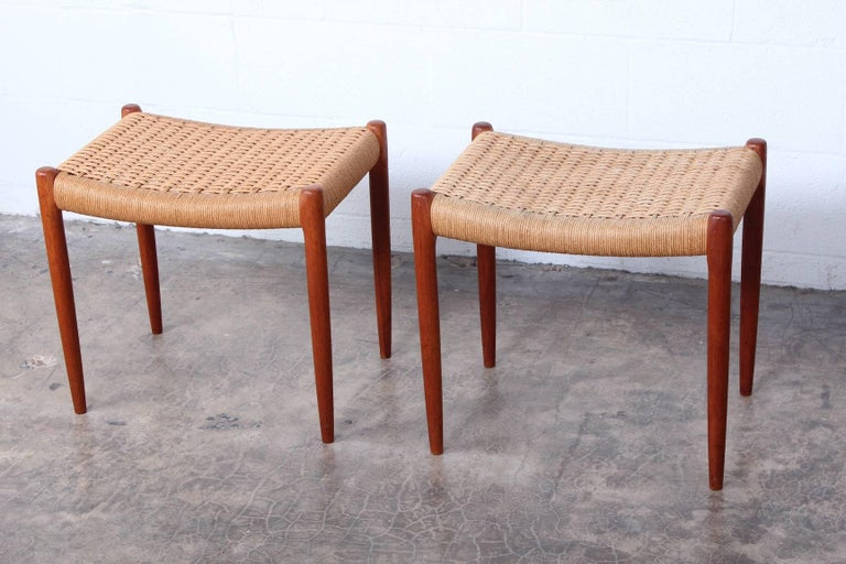 Mid-20th Century Pair of Stools by Niels O. Møller For Sale