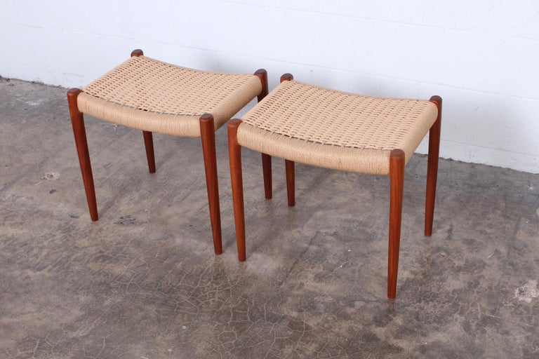 Pair of Stools by Niels O. Møller For Sale 1