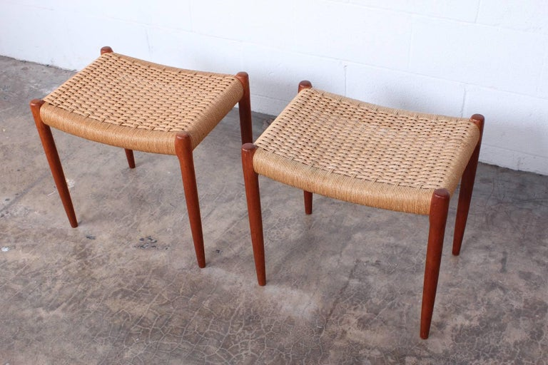 Pair of Stools by Niels O. Møller For Sale 2