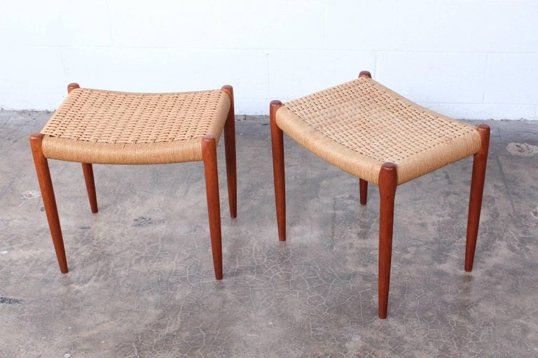 Pair of Stools by Niels O. Møller For Sale 3