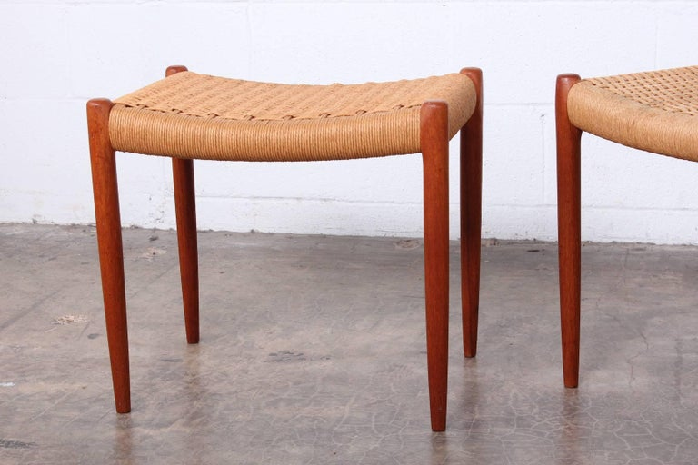 Pair of Stools by Niels O. Møller For Sale 5