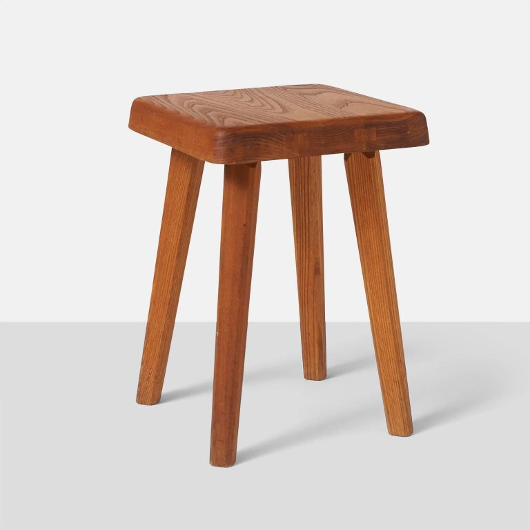 French Pair of Stools by Pierre Chapo Model S01A For Sale