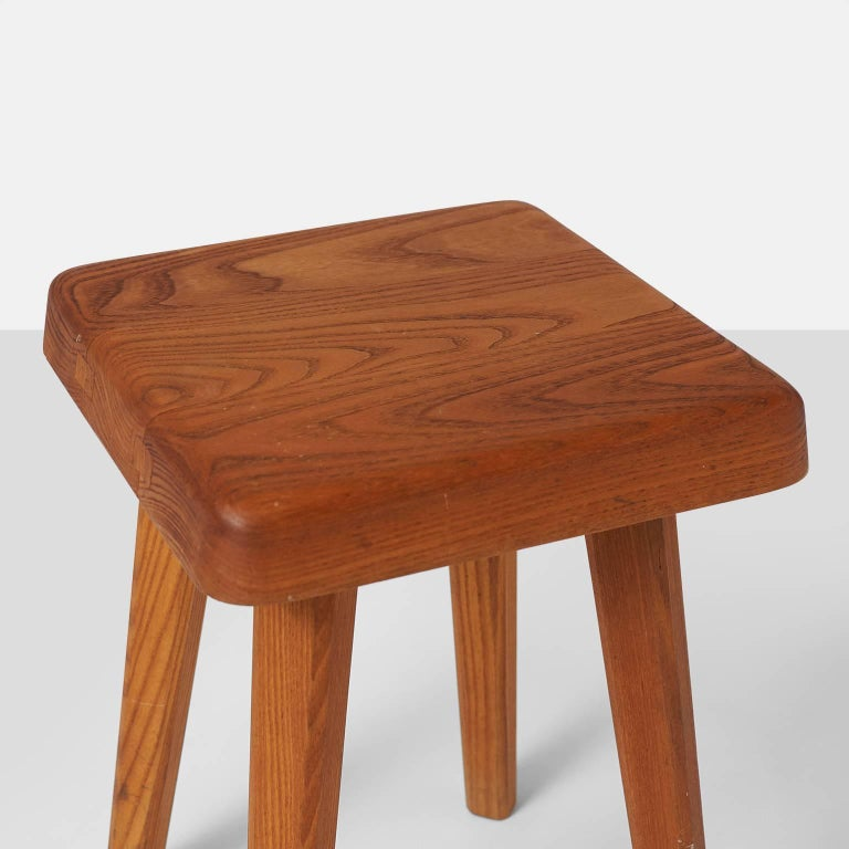 Mid-20th Century Pair of Stools by Pierre Chapo Model S01A For Sale