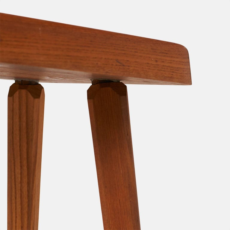 Elm Pair of Stools by Pierre Chapo Model S01A For Sale