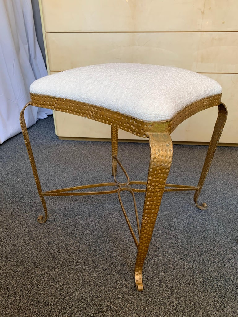 Italian Pair of Stools Gold Leaf by Pier Luigi Colli, Italy, 1950s For Sale