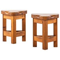 Pair of Stools in the Manner of Roland Wilhelmsson Produced in Sweden
