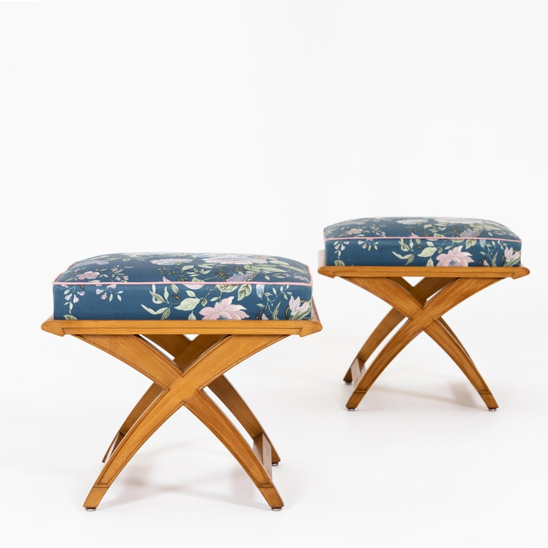 Mid-Century Modern Pair of Stools, Mid-20th Century For Sale