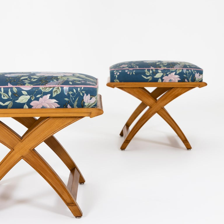 European Pair of Stools, Mid-20th Century For Sale