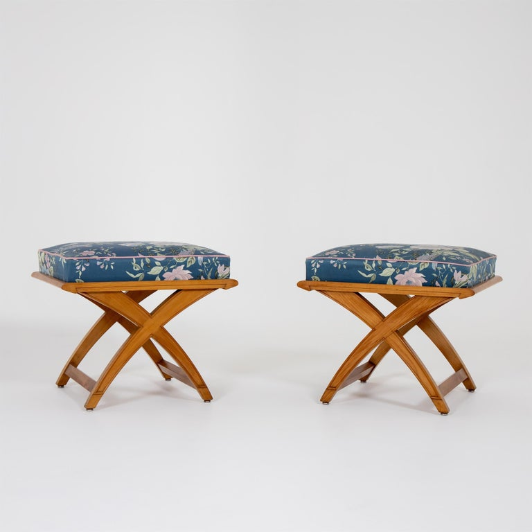 Pair of Stools, Mid-20th Century For Sale 1