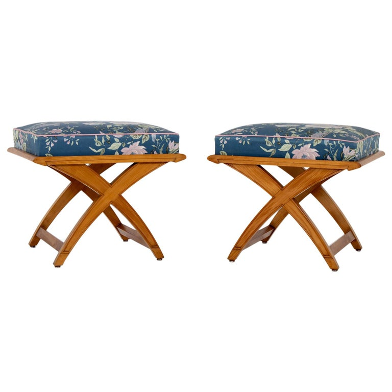 Pair of Stools, Mid-20th Century For Sale