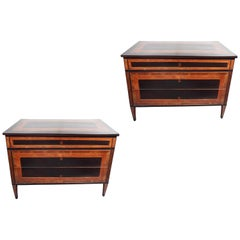 Pair of Striking, Antique, Neoclassical Commodes