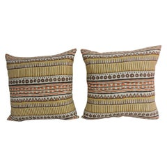 "Pair of Stripe ""Bahia"" Multi-Color Decorative Pillows"