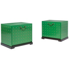 Pair of Studded Chests by Tommi Parzinger for Parzinger Originals