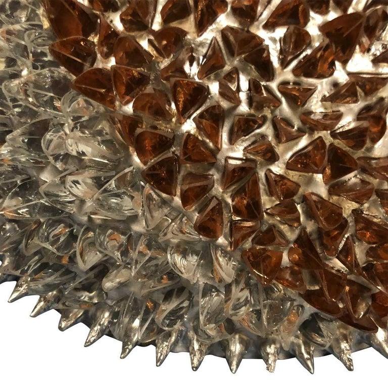 Italian Pair of Studded Sphere Sconces by Ernest de la Torre For Sale