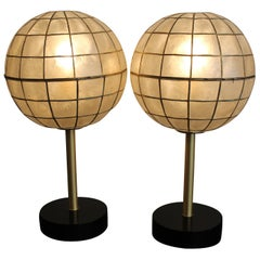 Pair of Studio Capiz Shell Lamps