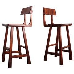 Pair of Studio Craft Barstools by Robert and Joanne Herzog