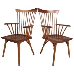 Pair of Studio Made Windsor High Back Chairs