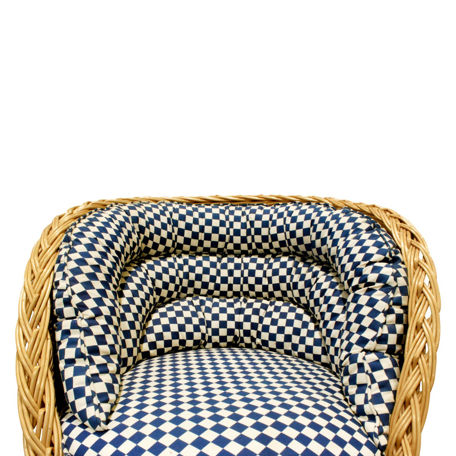 Phenomenal Pair Of Studio Made Woven Wicker Lounge Chairs 1970S Ocoug Best Dining Table And Chair Ideas Images Ocougorg
