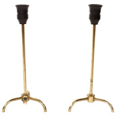 Pair of Stunning Brass Table Lamps, Sweden