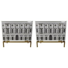 Pair of Stunning Chests of Drawers Revamped with Palladian Style Facade, France