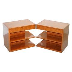 Pair of Stunning Ralph Lauren Modern Hollywood Nightstands Bedside Tables